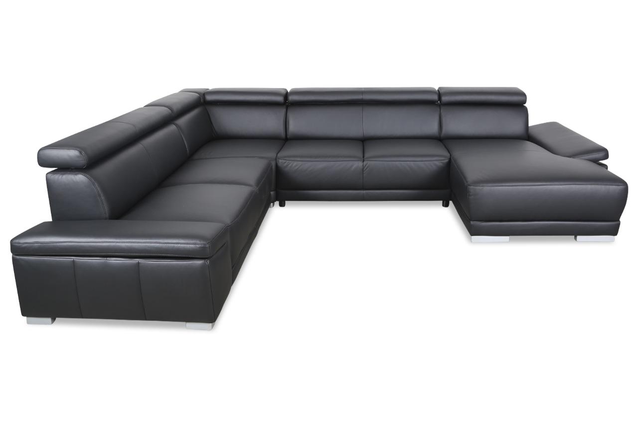 leder wohnlandschaft schwarz sofas zum halben preis. Black Bedroom Furniture Sets. Home Design Ideas