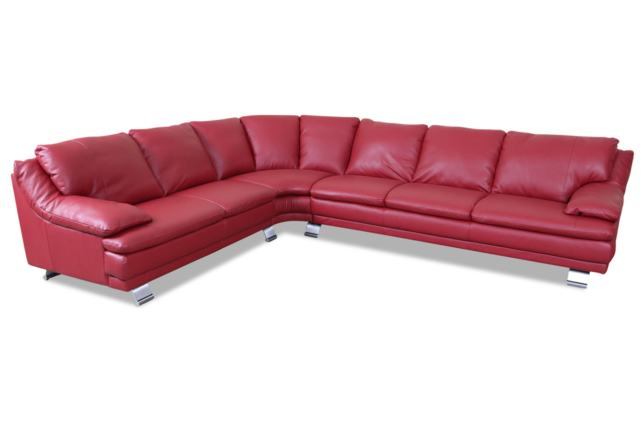 Editions Leder Rundecke U118 Rot Echt Leder Sofa Couch Ebay