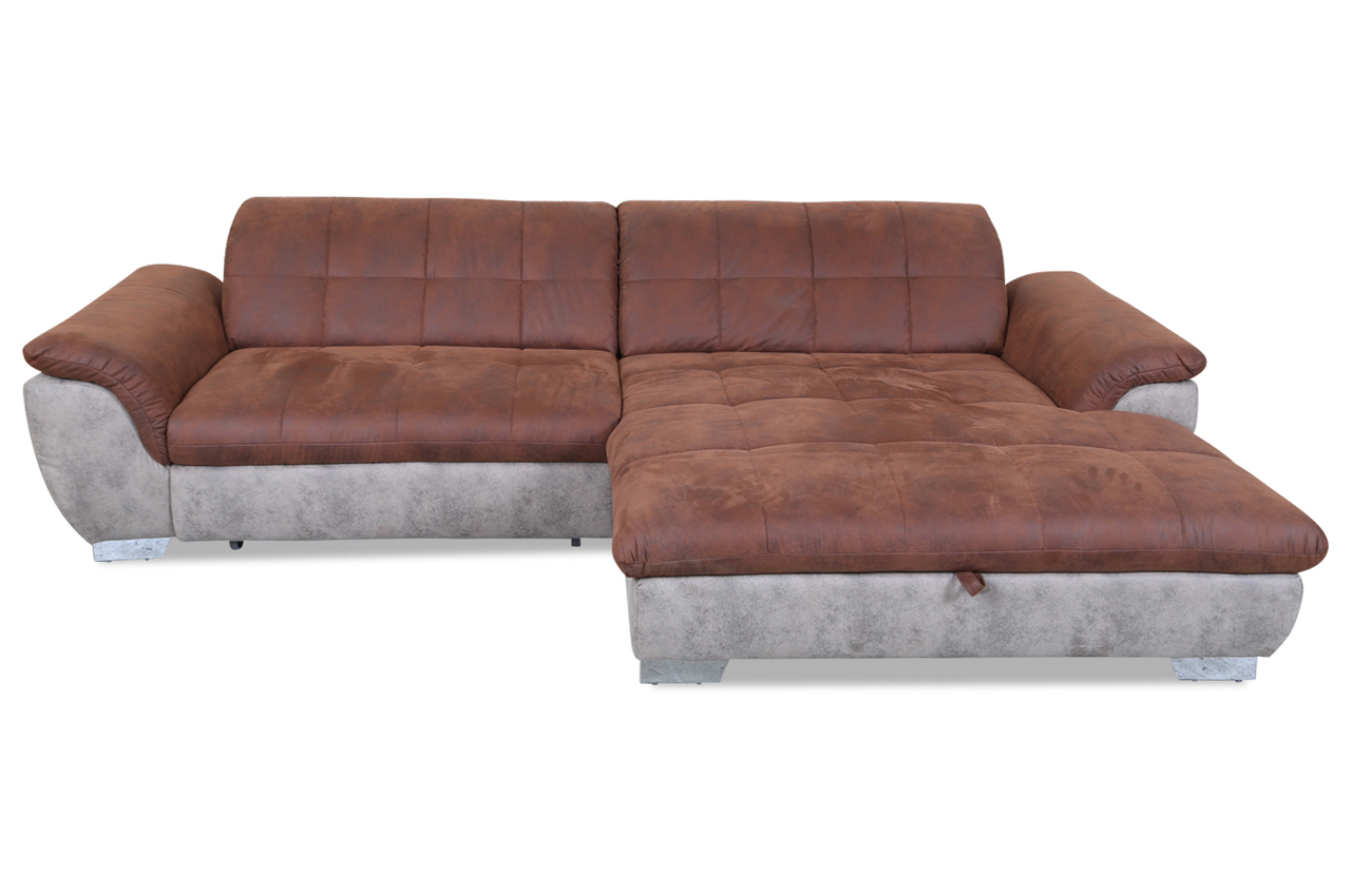 Ada alina ecksofa 7684 mit schlaffunktion braun sofa for Ecksofa ebay