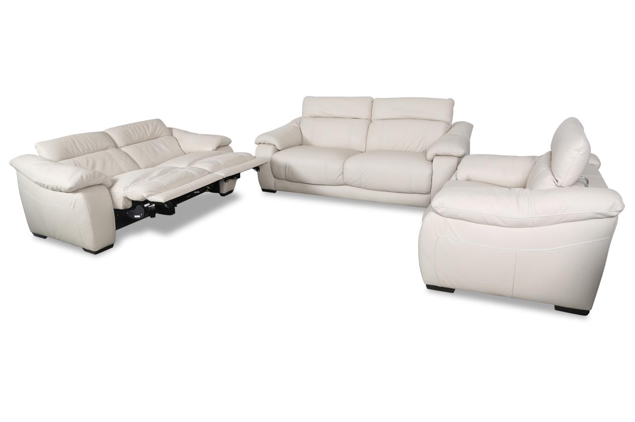 editions leder garnitur 3 2 1 u076 creme sofas zum halben preis. Black Bedroom Furniture Sets. Home Design Ideas