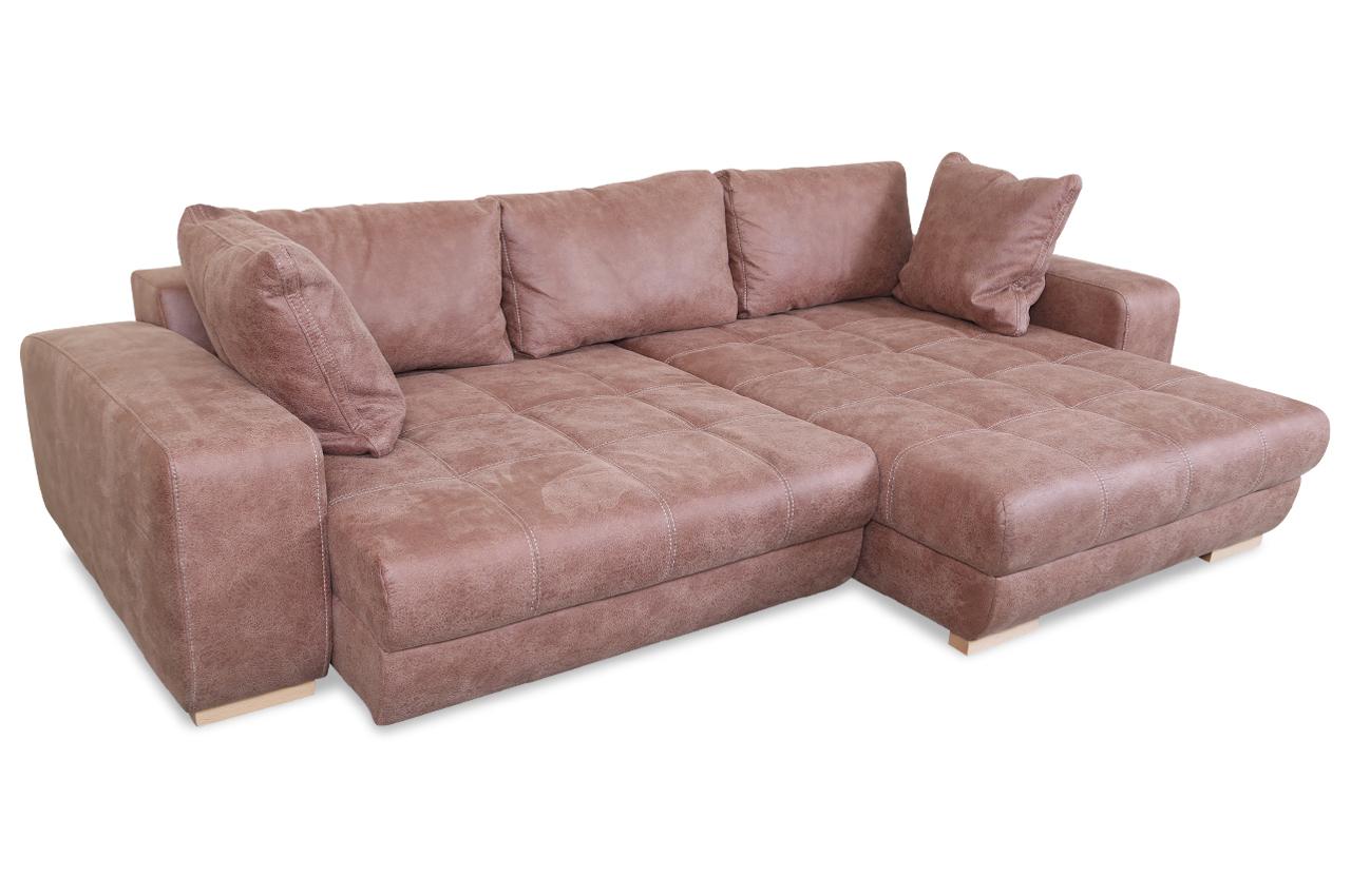 castello ecksofa dunja mit sitzverstellung braun sofas zum halben preis. Black Bedroom Furniture Sets. Home Design Ideas