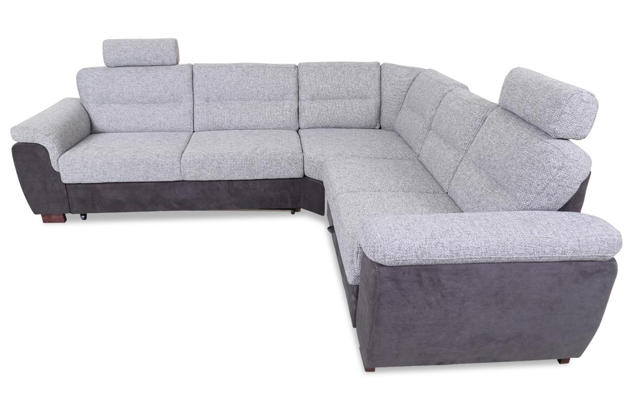 rundecke blues mit relax und schlaffunktion grau sofas zum halben preis. Black Bedroom Furniture Sets. Home Design Ideas