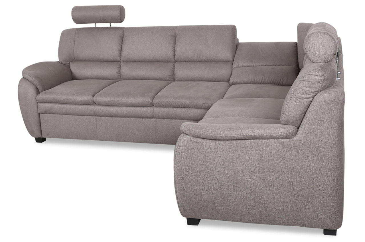 sit more rundecke ginger mit relax grau sofa couch ecksofa ebay. Black Bedroom Furniture Sets. Home Design Ideas
