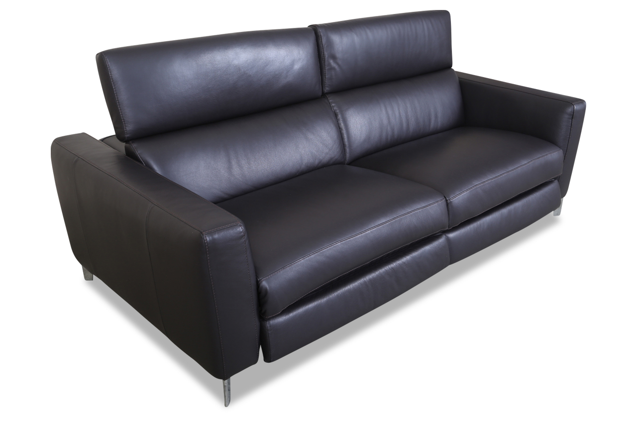 editions leder 3er sofa 2821 schwarz sofas zum halben preis. Black Bedroom Furniture Sets. Home Design Ideas