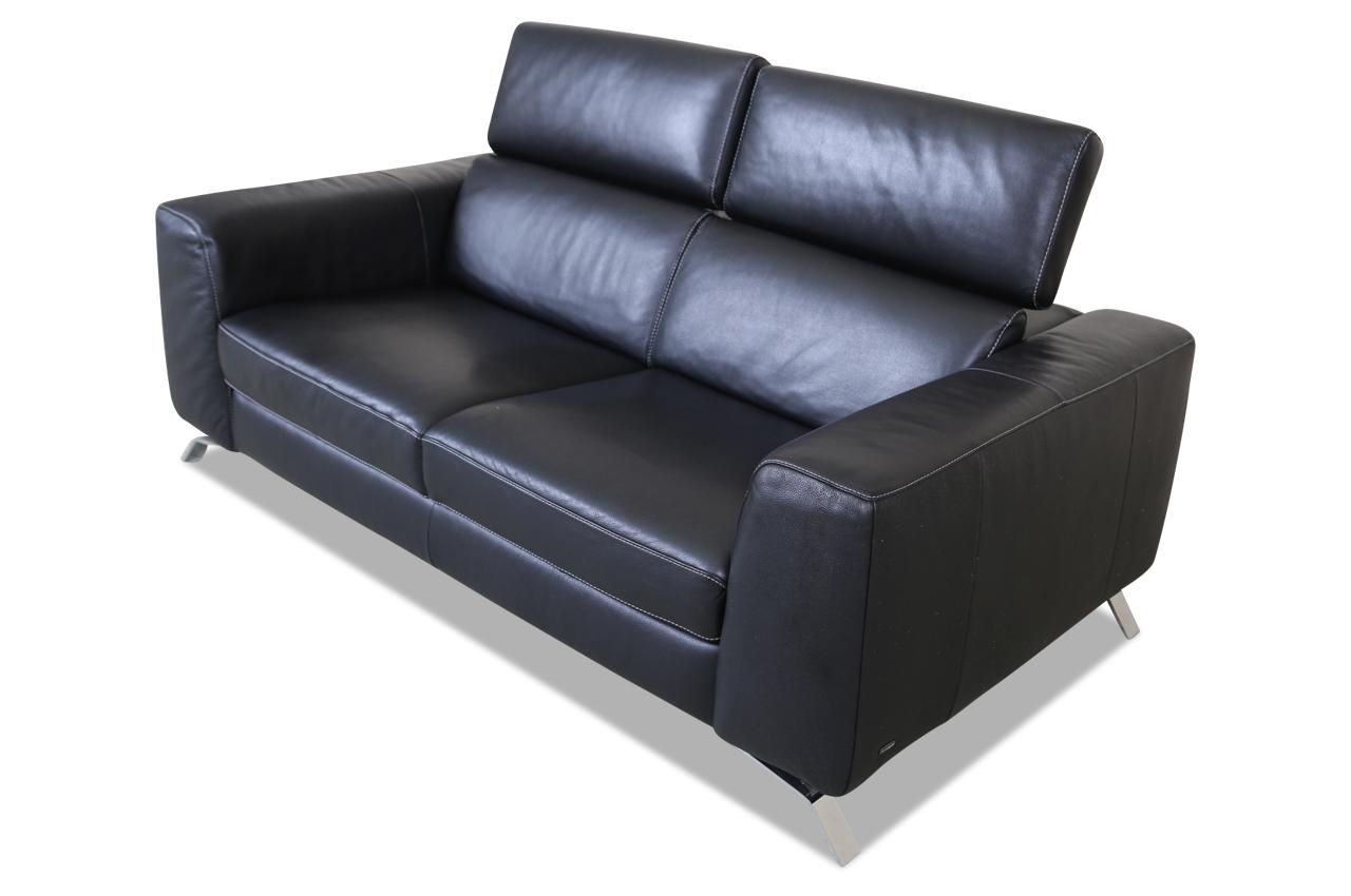 editions leder 2er sofa b795 schwarz mit federkern sofas zum halben preis. Black Bedroom Furniture Sets. Home Design Ideas