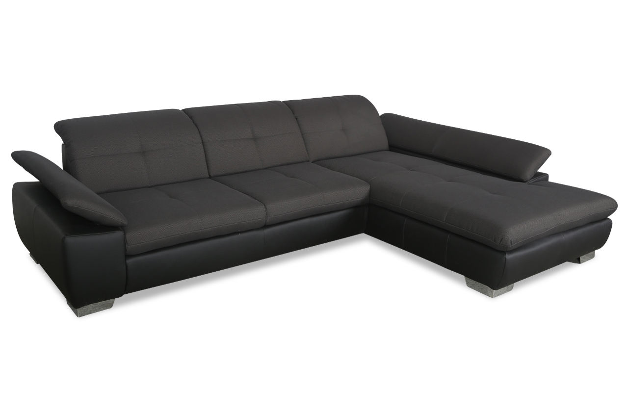 Ecksofa grau schwarz  ADA Alina Ecksofa 7576 - Schwarz | Sofas zum halben Preis