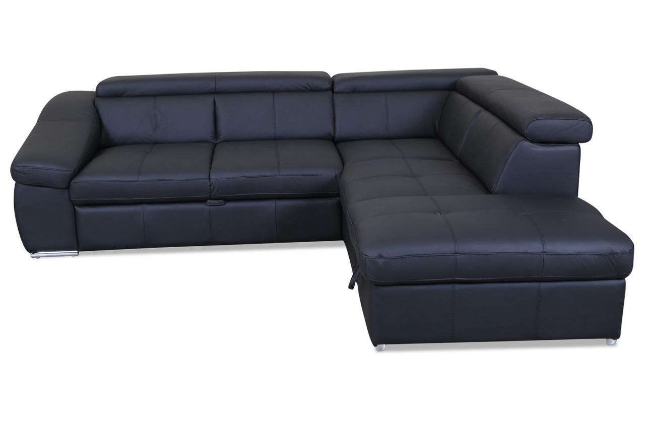 cotta leder ecksofa xl bravo mit schlaffunktion schwarz sofas zum halben preis. Black Bedroom Furniture Sets. Home Design Ideas