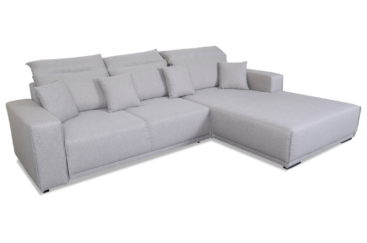blackredwhite ecksofa toscana mit schlaffunktion grau. Black Bedroom Furniture Sets. Home Design Ideas