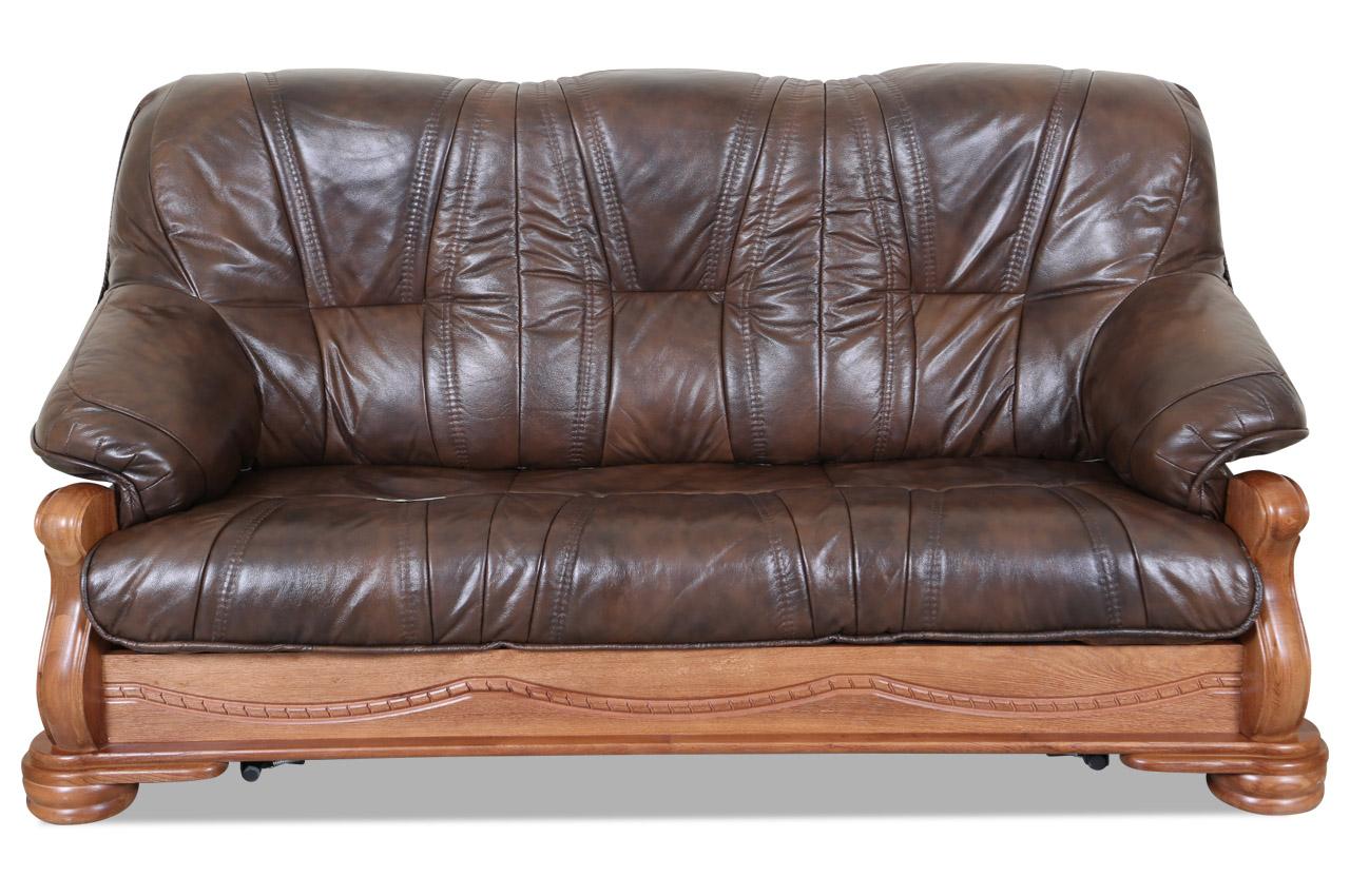 chojmex leder 3er sofa bolero mit schlaffunktion braun mit federkern sofas zum halben preis. Black Bedroom Furniture Sets. Home Design Ideas