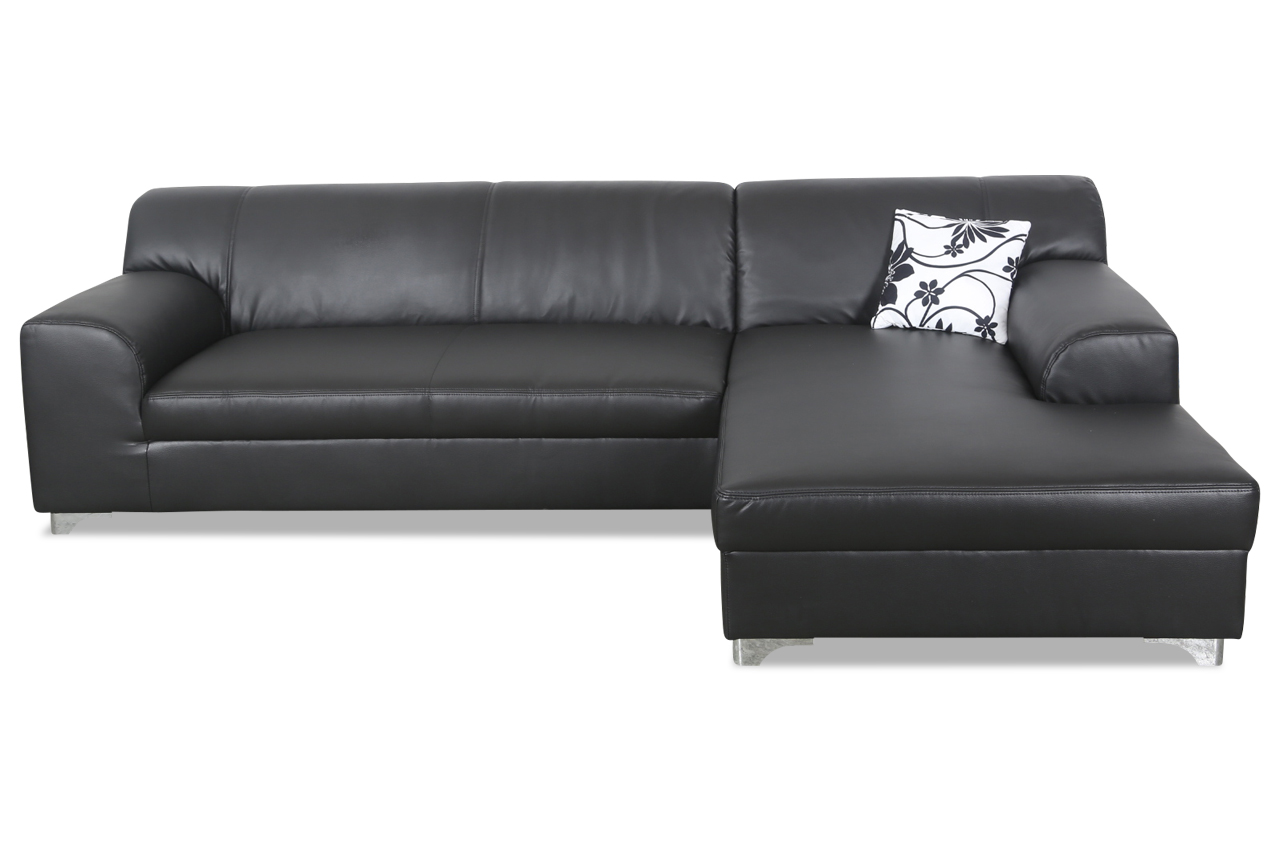 ecksofa tinos schwarz sofas zum halben preis. Black Bedroom Furniture Sets. Home Design Ideas