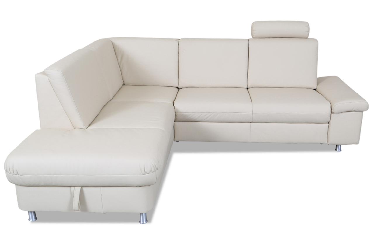 ada alina leder ecksofa xl 7408 mit schlaffunktion creme echt leder sofa ebay. Black Bedroom Furniture Sets. Home Design Ideas