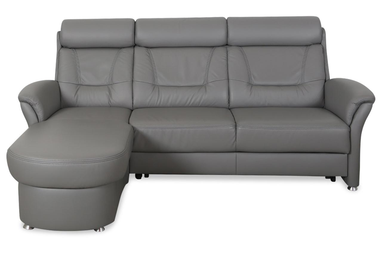 leder ecksofa mit schlaffunktion grau sofas zum halben preis. Black Bedroom Furniture Sets. Home Design Ideas