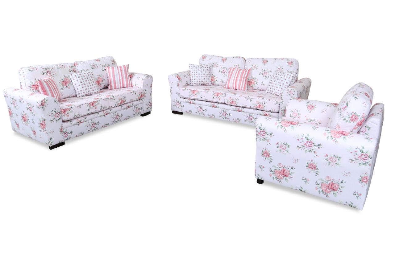 stolmar garnitur 3 2 1 elise bunt sofas zum halben preis. Black Bedroom Furniture Sets. Home Design Ideas