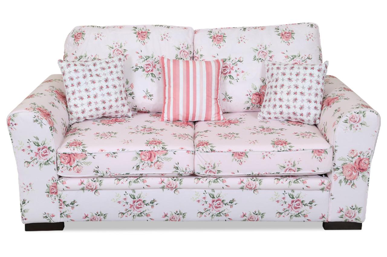 stolmar 2er sofa elise mit schlaffunktion bunt mit federkern sofas zum halben preis. Black Bedroom Furniture Sets. Home Design Ideas