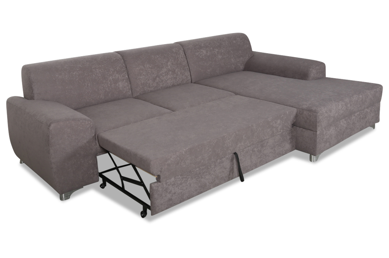 ecksofa ricardo mit schlaffunktion grau sofas zum. Black Bedroom Furniture Sets. Home Design Ideas