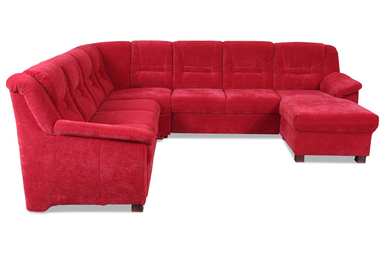wohnlandschaft systema mit schlaffunktion rot sofas zum halben preis. Black Bedroom Furniture Sets. Home Design Ideas