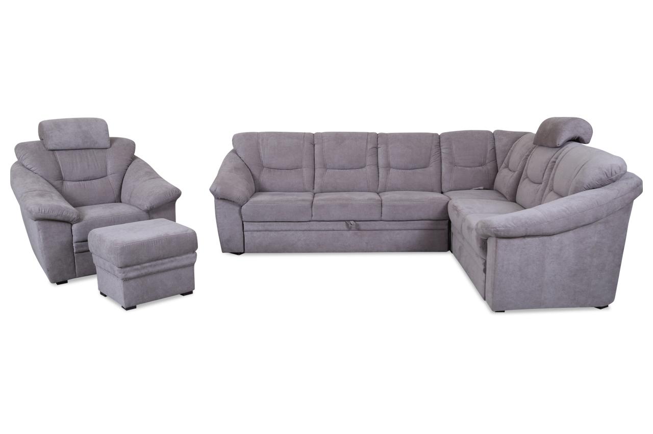 rundecke talos mit hocker und sessel mit relax und schlaffunktion braun sofas zum halben preis. Black Bedroom Furniture Sets. Home Design Ideas