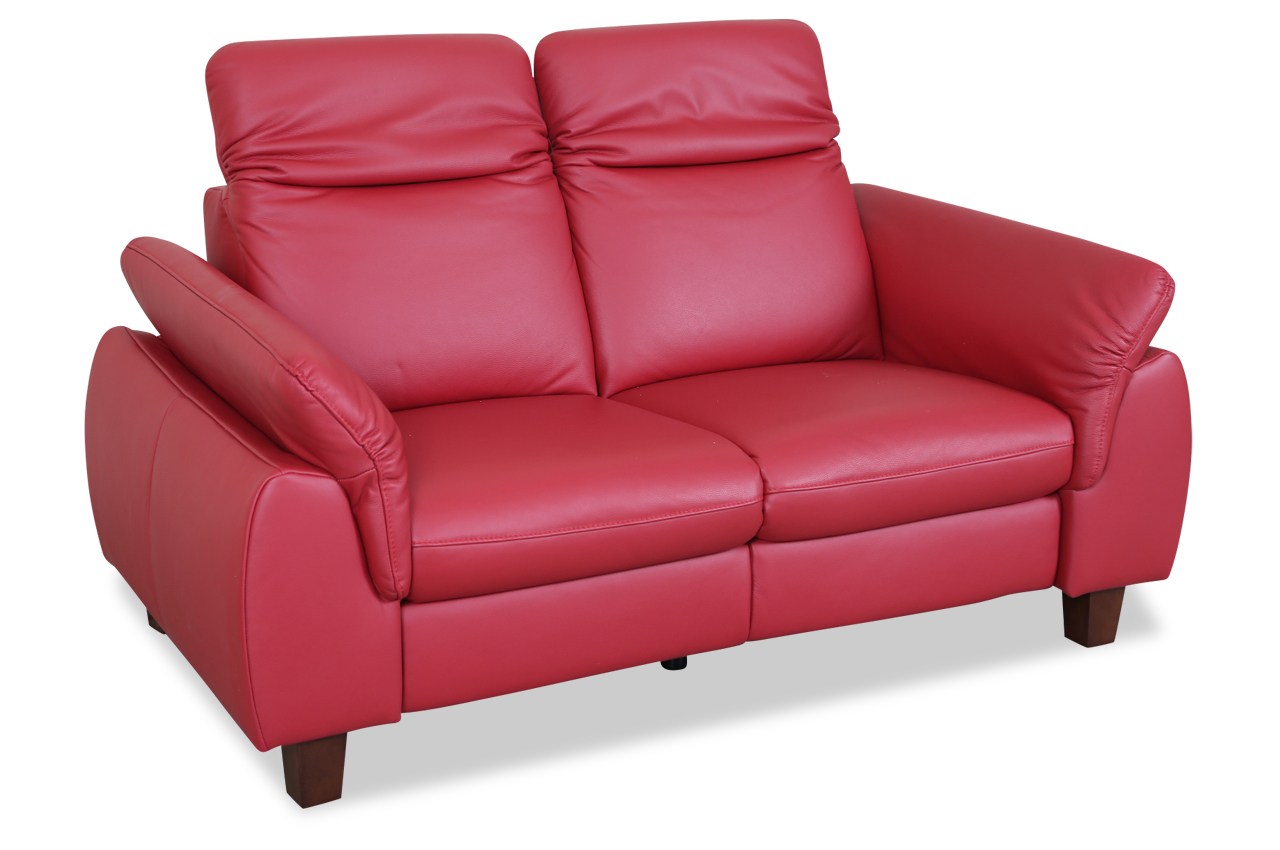 leder 2er sofa rot sofas zum halben preis. Black Bedroom Furniture Sets. Home Design Ideas