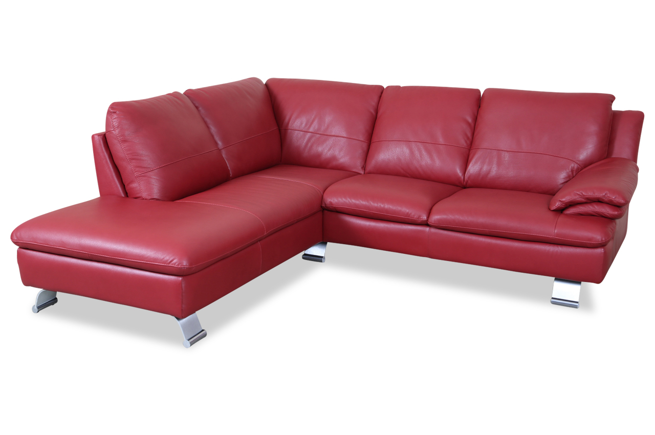 editions leder ecksofa xl z742 rot mit federkern sofas zum halben preis. Black Bedroom Furniture Sets. Home Design Ideas