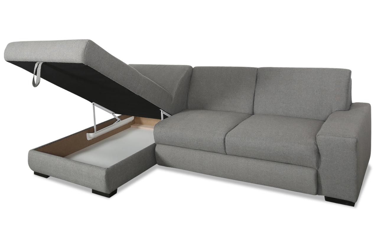 ecksofa raven mit schlaffunktion grau sofas zum. Black Bedroom Furniture Sets. Home Design Ideas