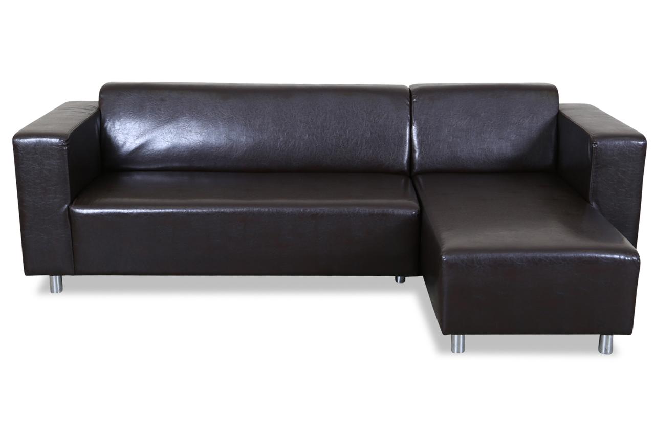 Ecksofa braun sofas zum halben preis for Ecksofa braun kunstleder