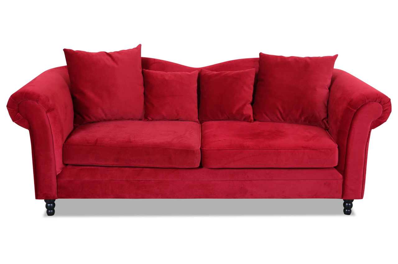 3er sofa rot sofas zum halben preis. Black Bedroom Furniture Sets. Home Design Ideas