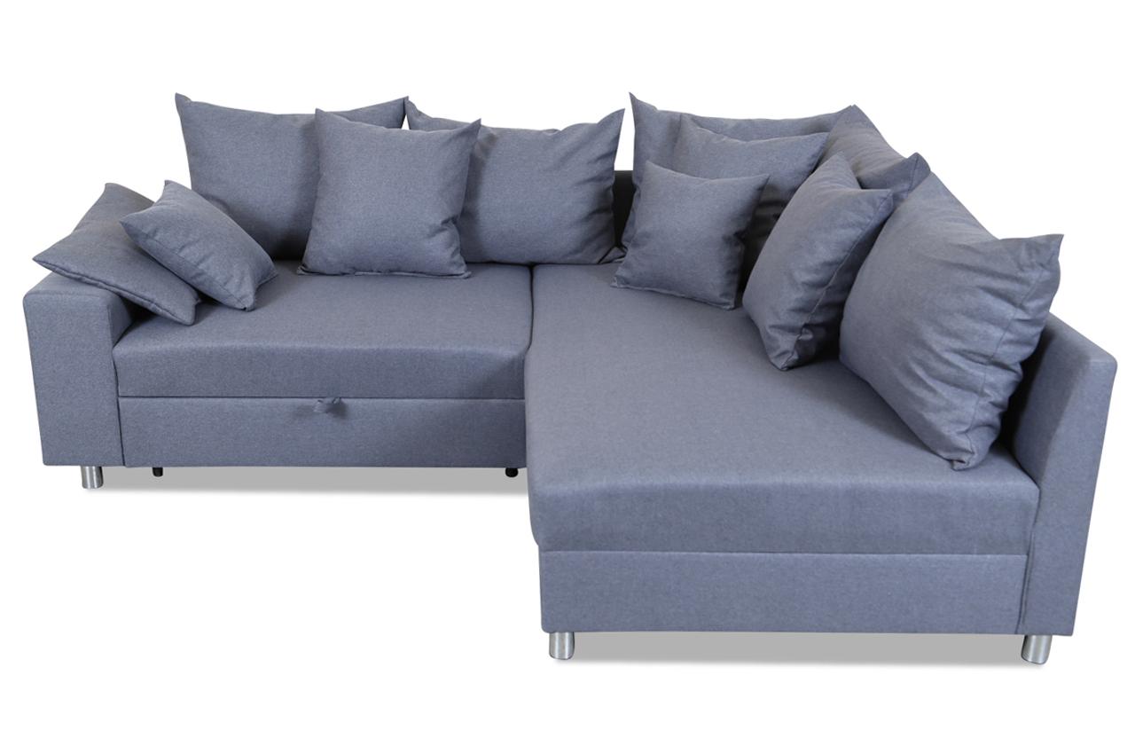 furntrade ecksofa xl merle mit schlaffunktion grau ecksofas. Black Bedroom Furniture Sets. Home Design Ideas