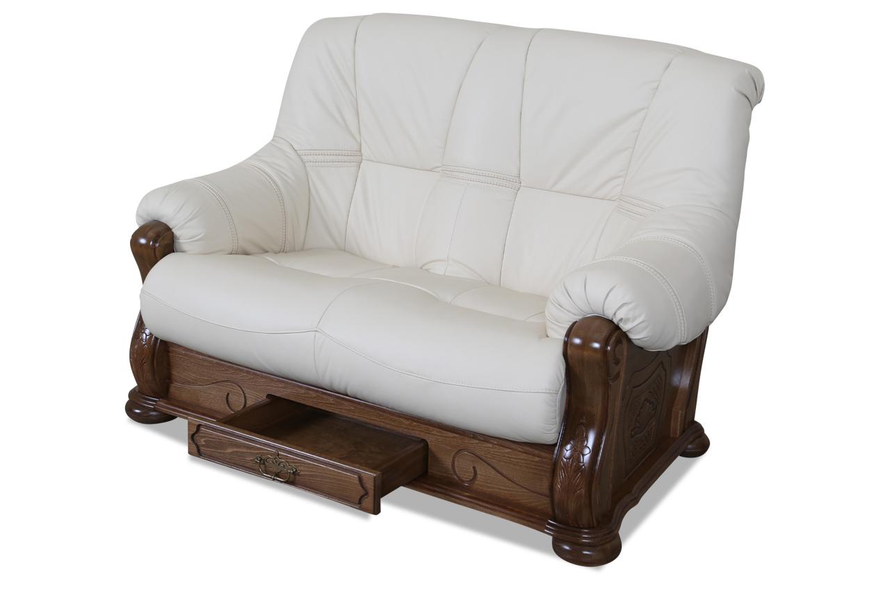 chojmex leder 2er sofa michelle creme sofas zum halben preis. Black Bedroom Furniture Sets. Home Design Ideas