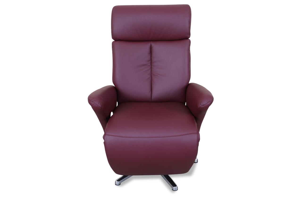 leder fernsehsessel mit relax rot mit federkern sofas zum halben preis. Black Bedroom Furniture Sets. Home Design Ideas