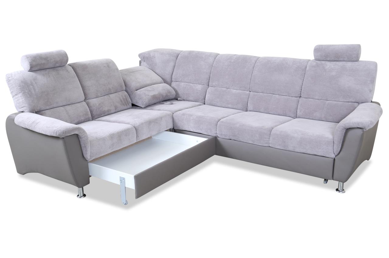 rundecke pisa mit relax und schlaffunktion grau sofas zum halben preis. Black Bedroom Furniture Sets. Home Design Ideas
