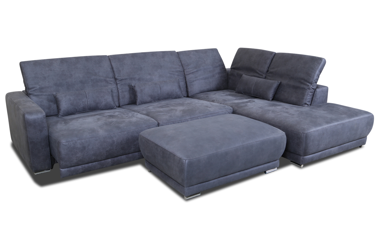sofa team ecksofa xl 236 mit hocker anthrazit sofas zum halben preis. Black Bedroom Furniture Sets. Home Design Ideas
