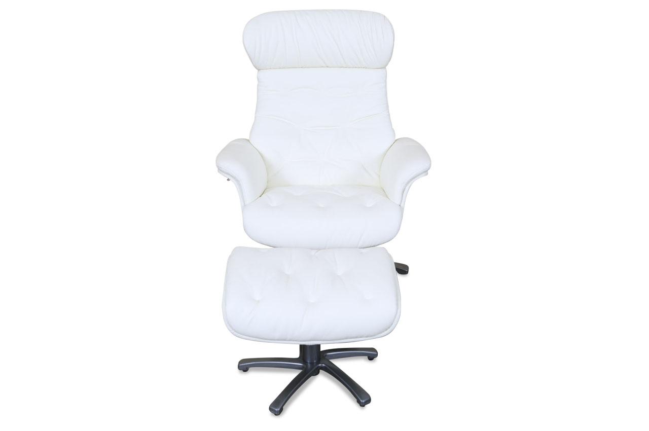 htl international leder fernsehsessel a 967b mit hocker weiss sofas zum halben preis. Black Bedroom Furniture Sets. Home Design Ideas