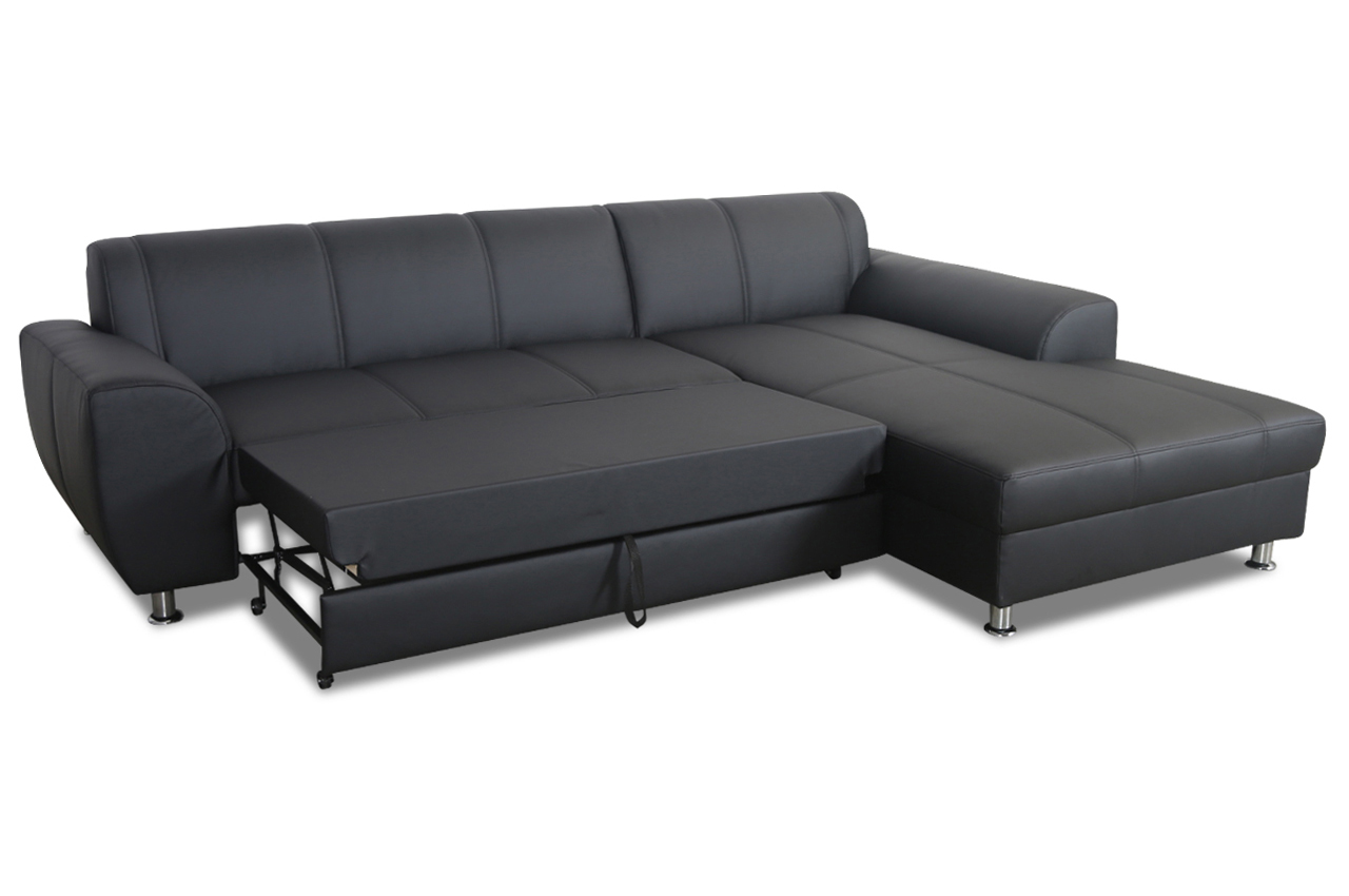 ecksofa shimano mit schlaffunktion schwarz sofas zum. Black Bedroom Furniture Sets. Home Design Ideas