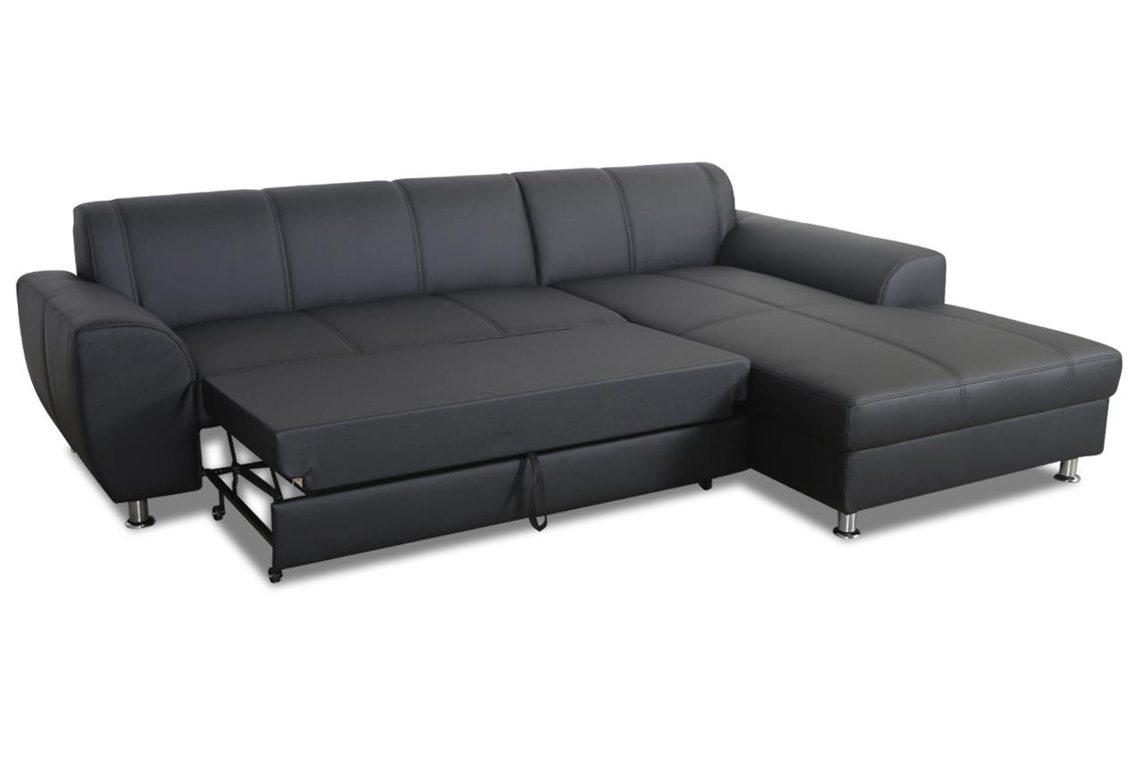 Ecksofa shimano mit schlaffunktion schwarz sofas zum for Ecksofa 2 00