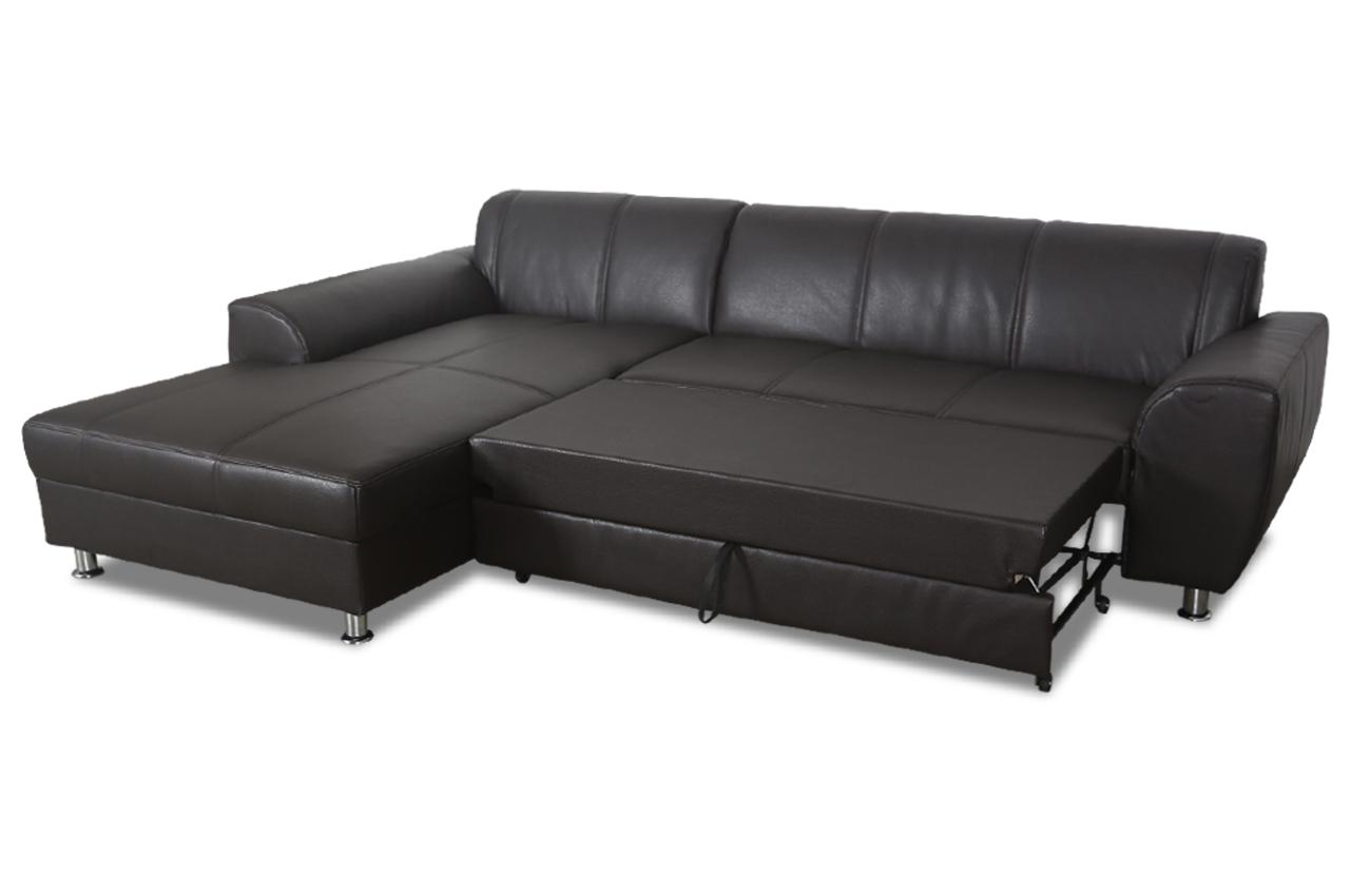 Ecksofa shimano mit schlaffunktion braun sofas zum for Ecksofa 2 00