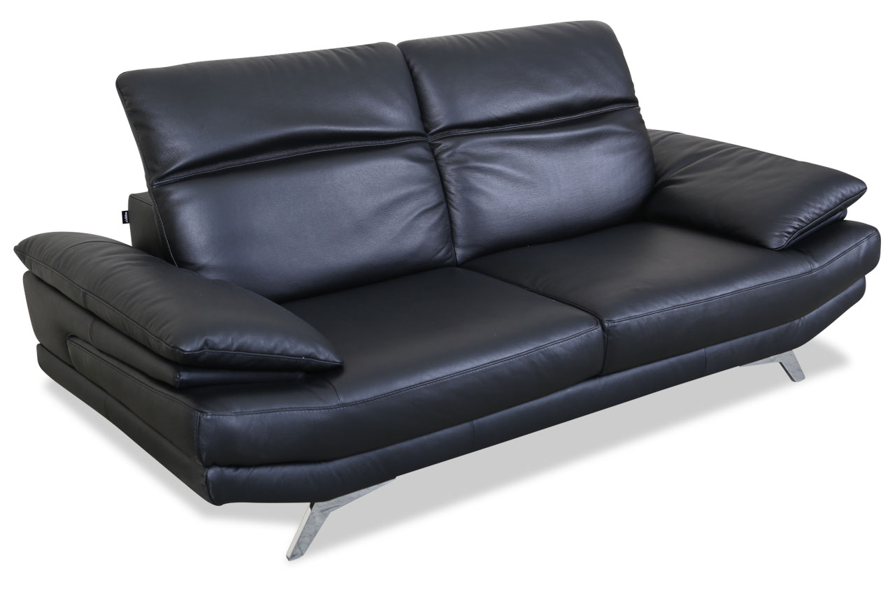 editions leder 3er sofa u169 schwarz sofas zum halben preis. Black Bedroom Furniture Sets. Home Design Ideas