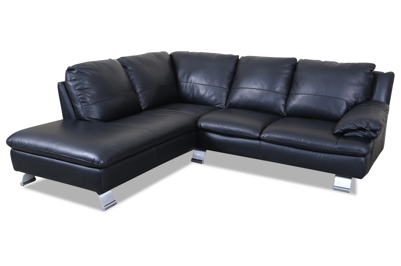 editions leder ecksofa xl z742 schwarz echt leder sofa couch ebay. Black Bedroom Furniture Sets. Home Design Ideas