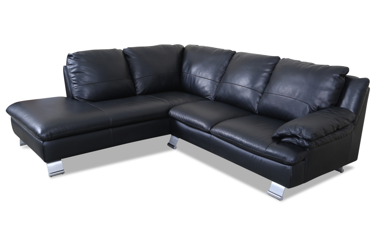editions leder ecksofa xl z742 schwarz echt leder sofa. Black Bedroom Furniture Sets. Home Design Ideas