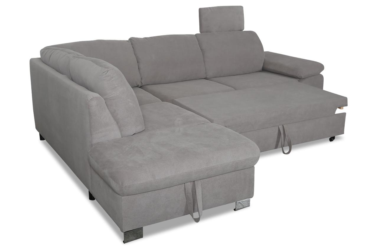 ecksofa xl pico mit schlaffunktion grau sofas zum halben preis. Black Bedroom Furniture Sets. Home Design Ideas