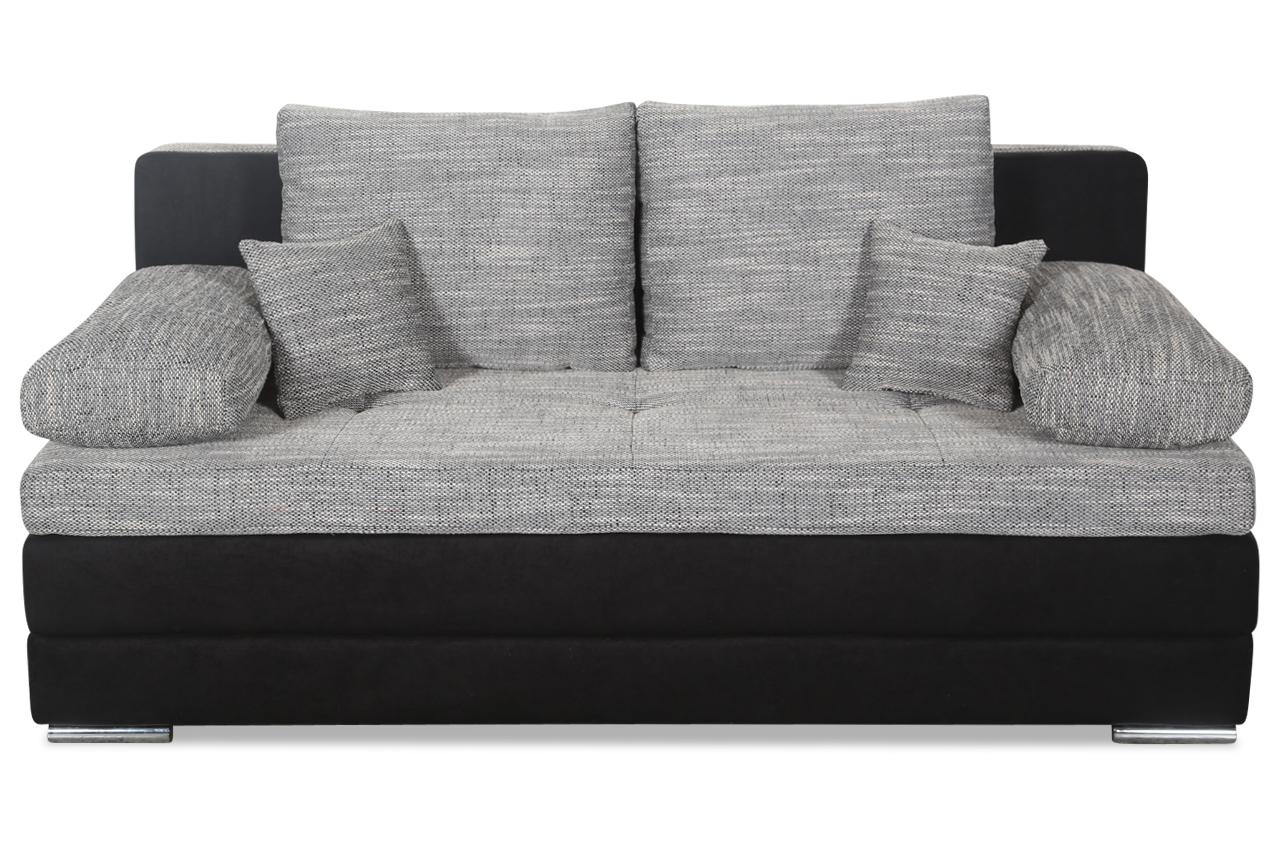 Furntrade 3er sofa lincoln mit schlaffunktion schwarz sofas zum halben preis 3er sofa mit schlaffunktion