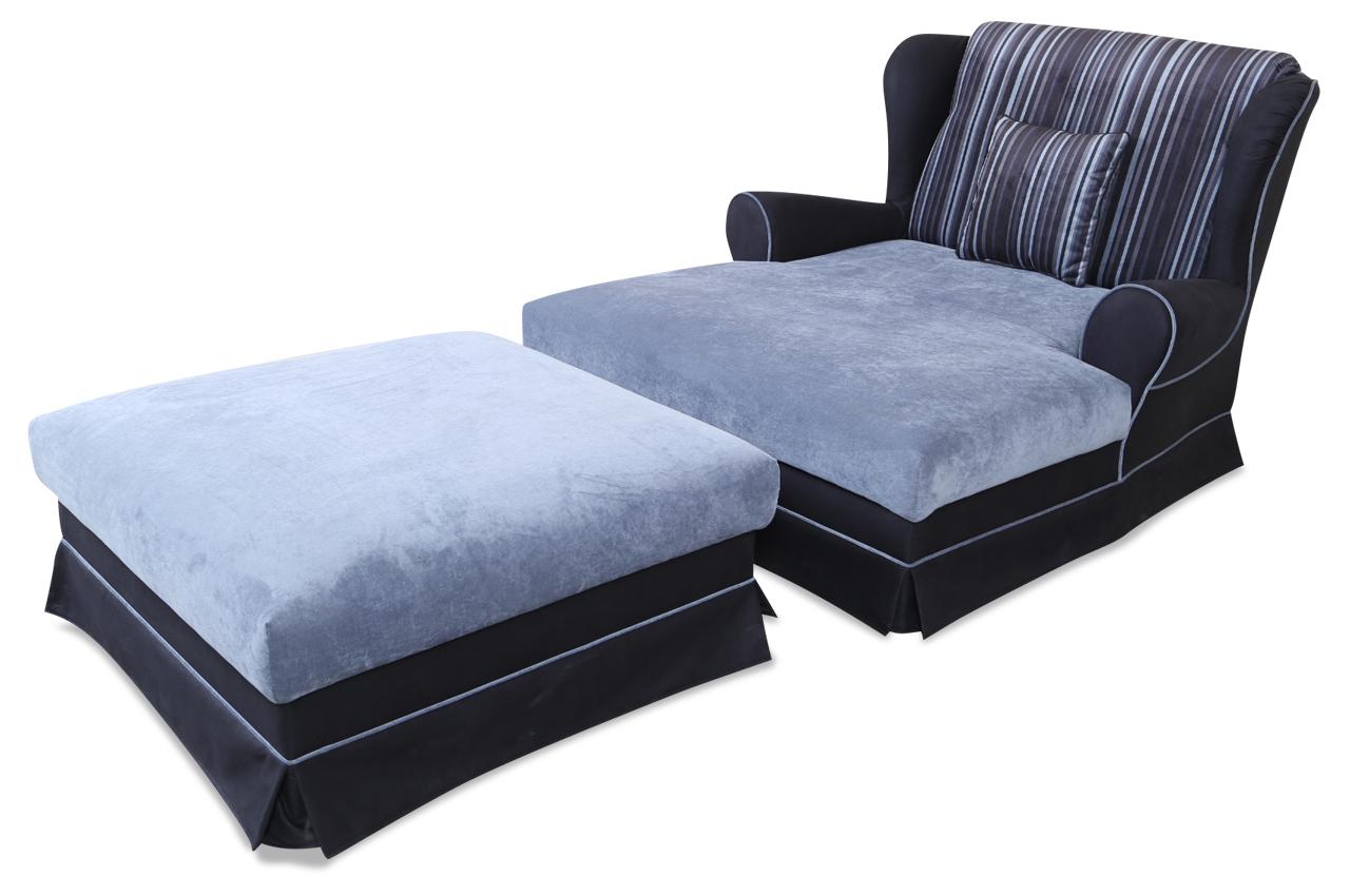 blackredwhite bigsessel xxl catherine mit hocker blau sofas zum halben preis. Black Bedroom Furniture Sets. Home Design Ideas