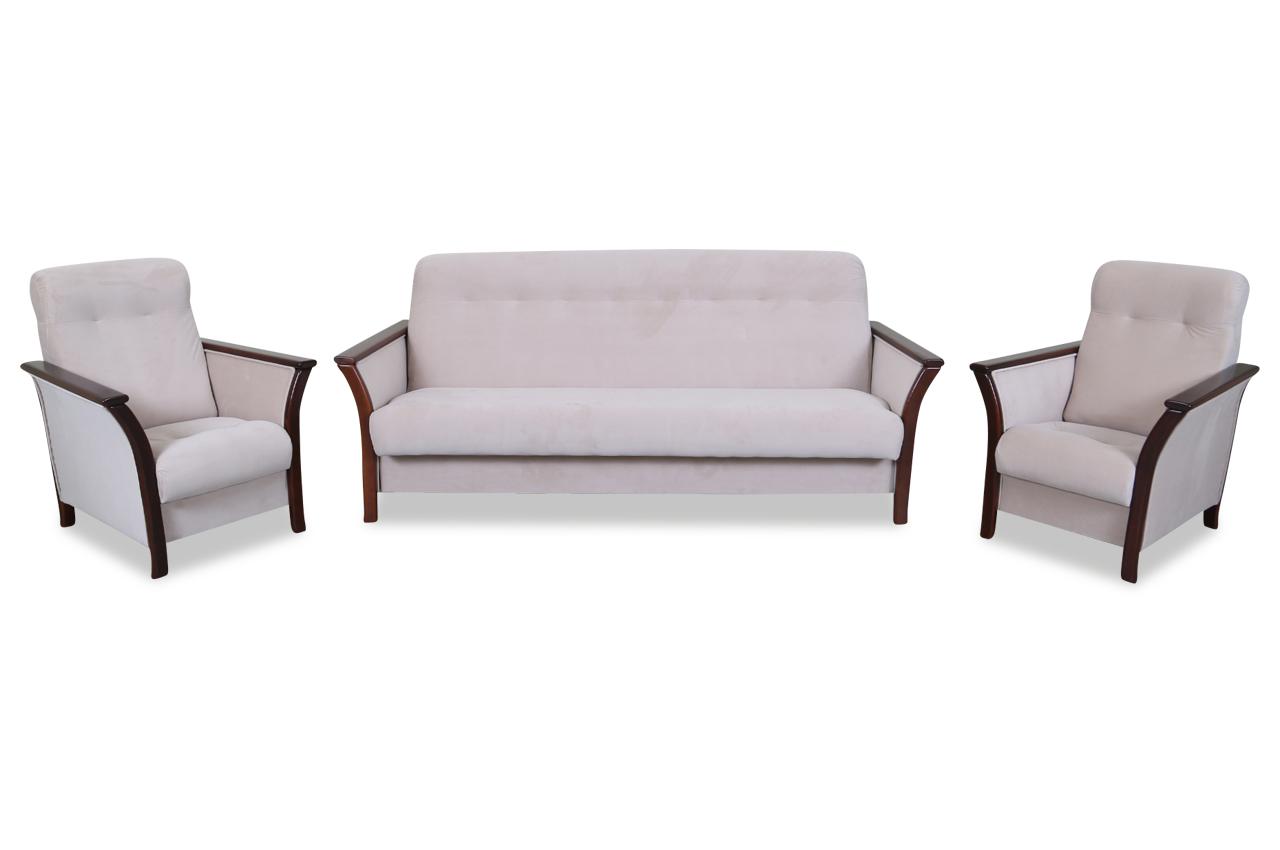 furntrade garnitur 3 1 1 karington mit schlaffunktion creme sofas zum halben preis. Black Bedroom Furniture Sets. Home Design Ideas