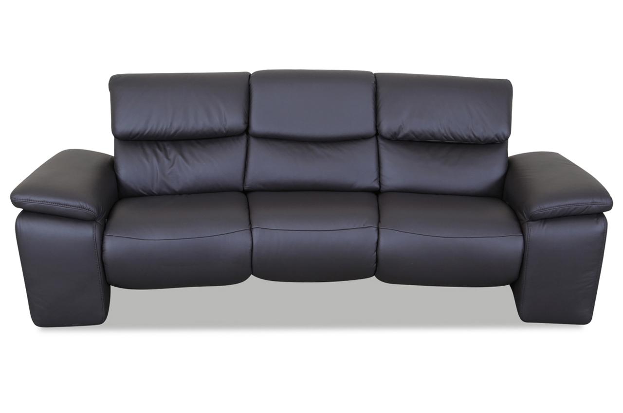 leder 3er sofa mit relax braun sofas zum halben preis. Black Bedroom Furniture Sets. Home Design Ideas