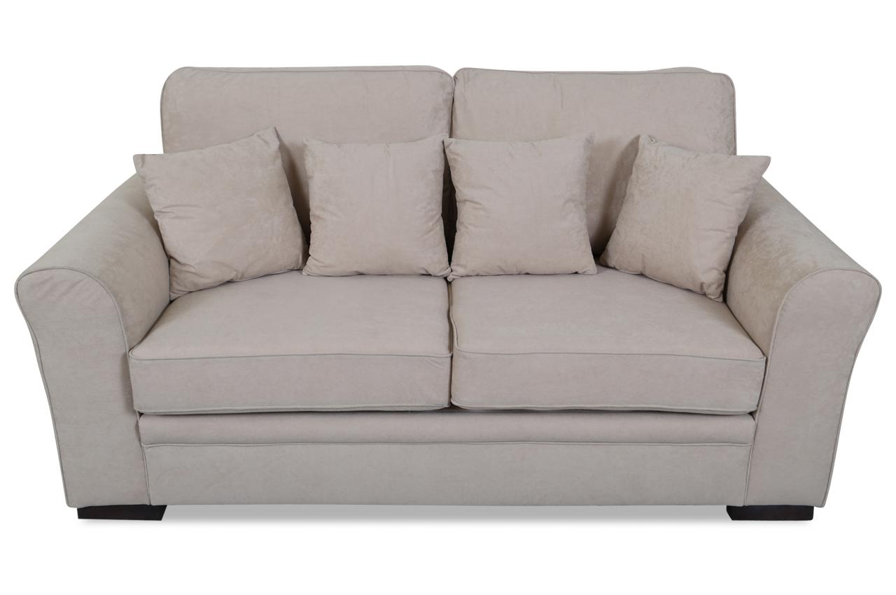 Furntrade 3er Sofa Sara Mit Schlaffunktion Creme Mit Federkern Microfaser Ebay
