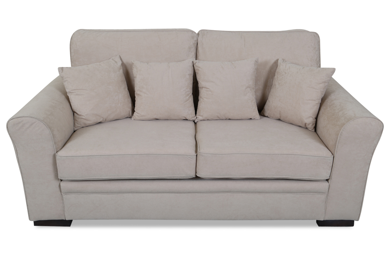 Furntrade 3er sofa sara mit schlaffunktion creme mit for Sofa microfaser
