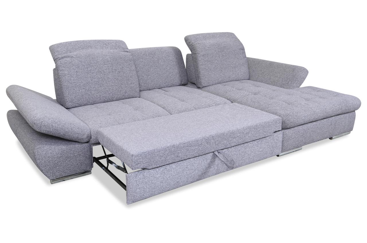 ecksofa mit schlaffunktion grau mit federkern sofas. Black Bedroom Furniture Sets. Home Design Ideas