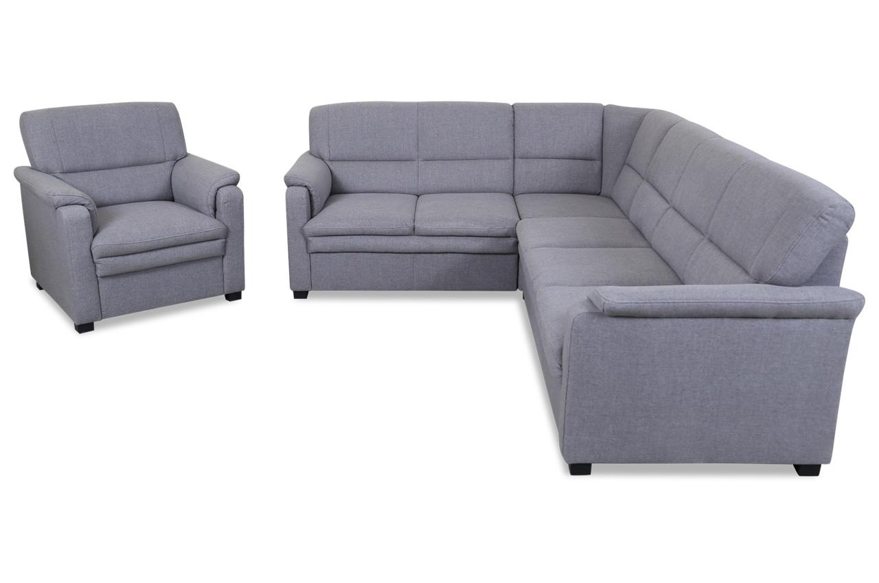 sit more rundecke pisa mit sessel grau mit federkern. Black Bedroom Furniture Sets. Home Design Ideas