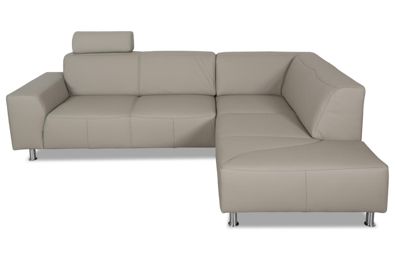 ada alina leder ecksofa xl maranello mit sitzverstellung grau sofas zum halben preis. Black Bedroom Furniture Sets. Home Design Ideas