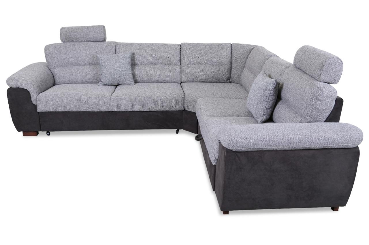 rundecke blues mit relax und schlaffunktion grau mit federkern sofas zum halben preis. Black Bedroom Furniture Sets. Home Design Ideas