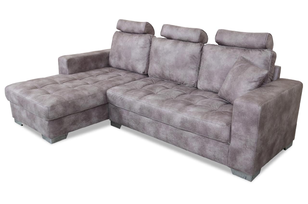 ecksofa nancy braun mit federkern sofas zum halben preis. Black Bedroom Furniture Sets. Home Design Ideas